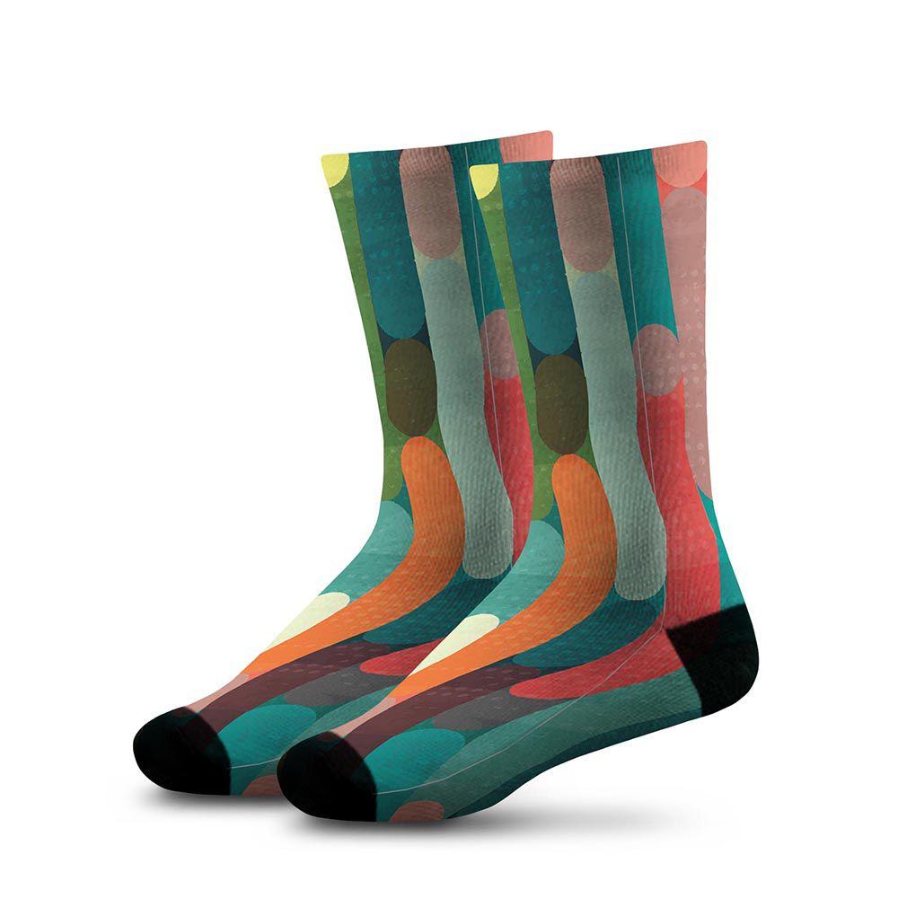 Meia Estampada Comfy Color