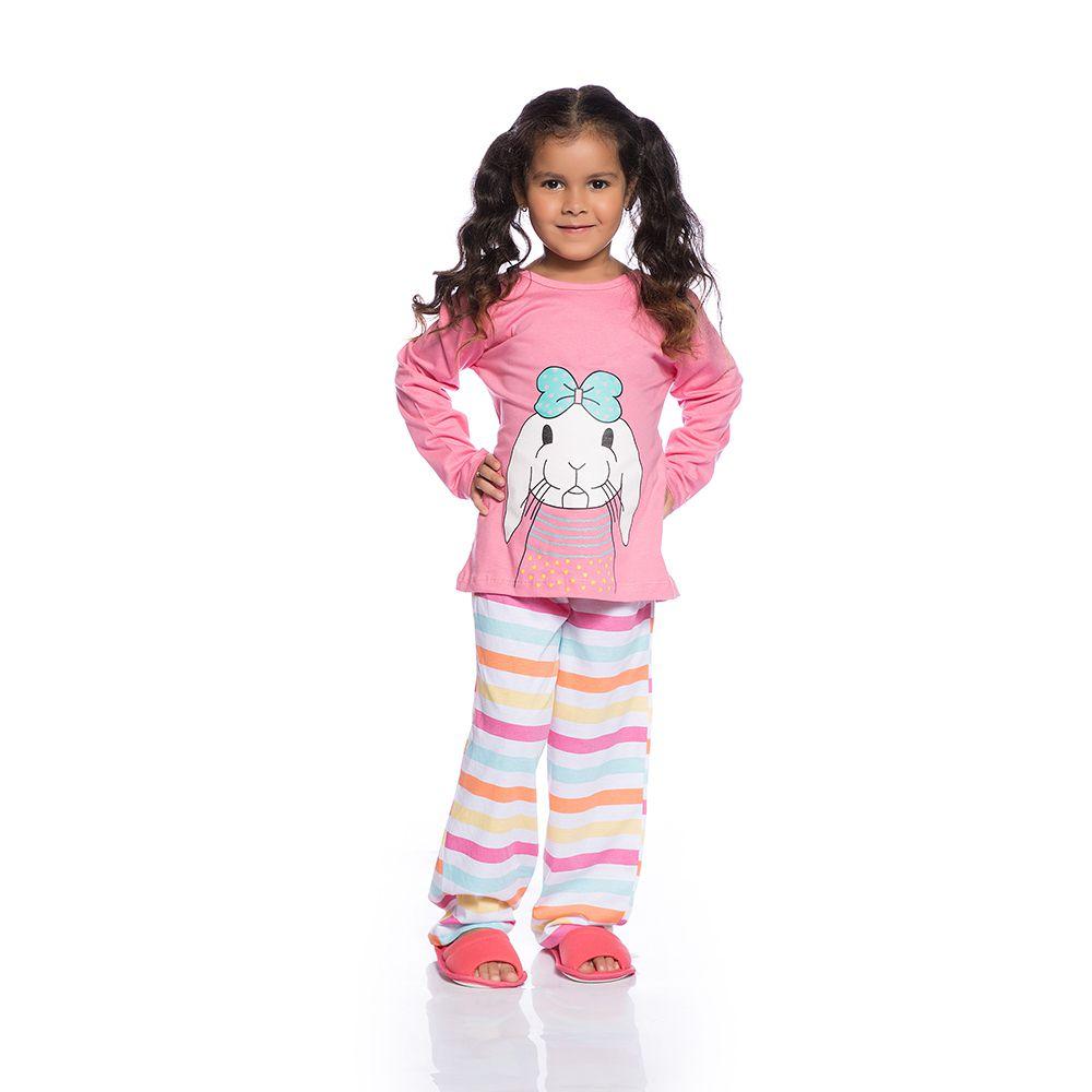 Pijama longo coelhinho