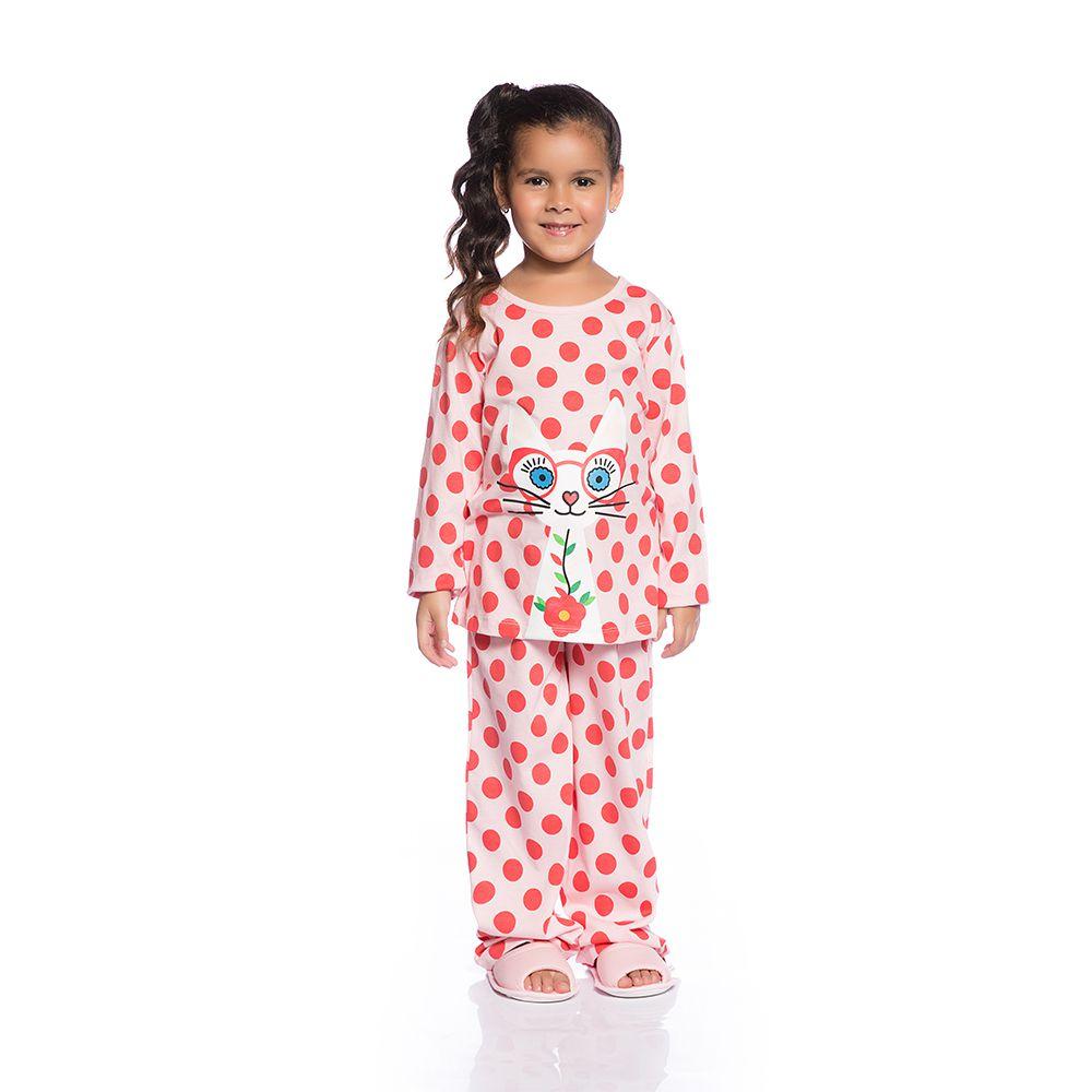 Pijama longo gatinho