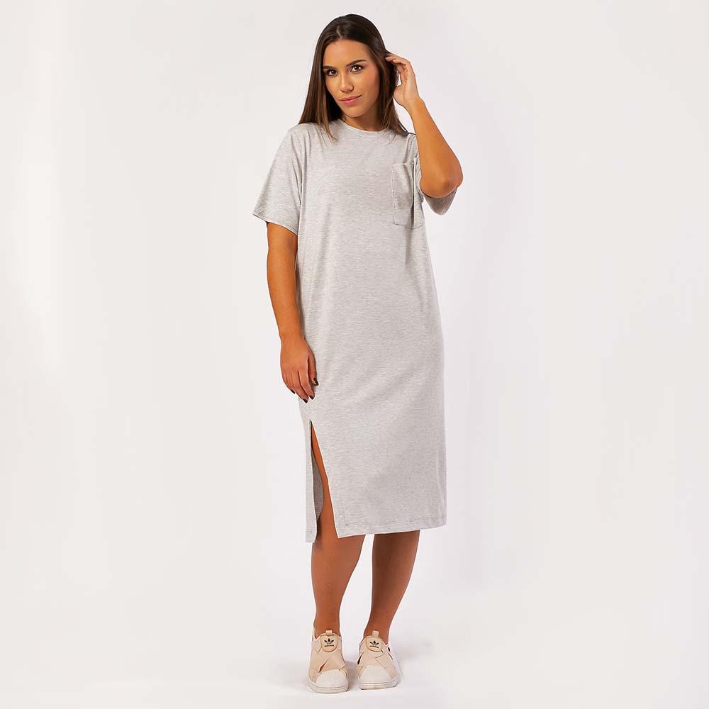 Vestido Comfy Midi Liso Mescla