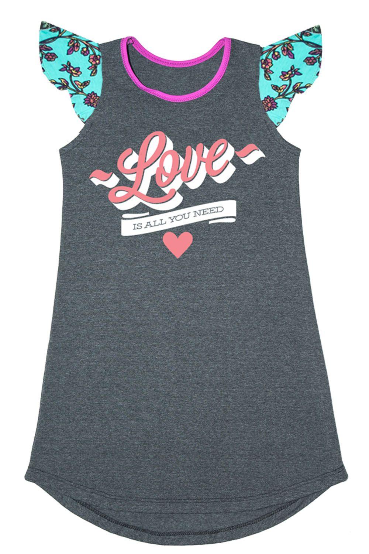 Vestido Love Grafite