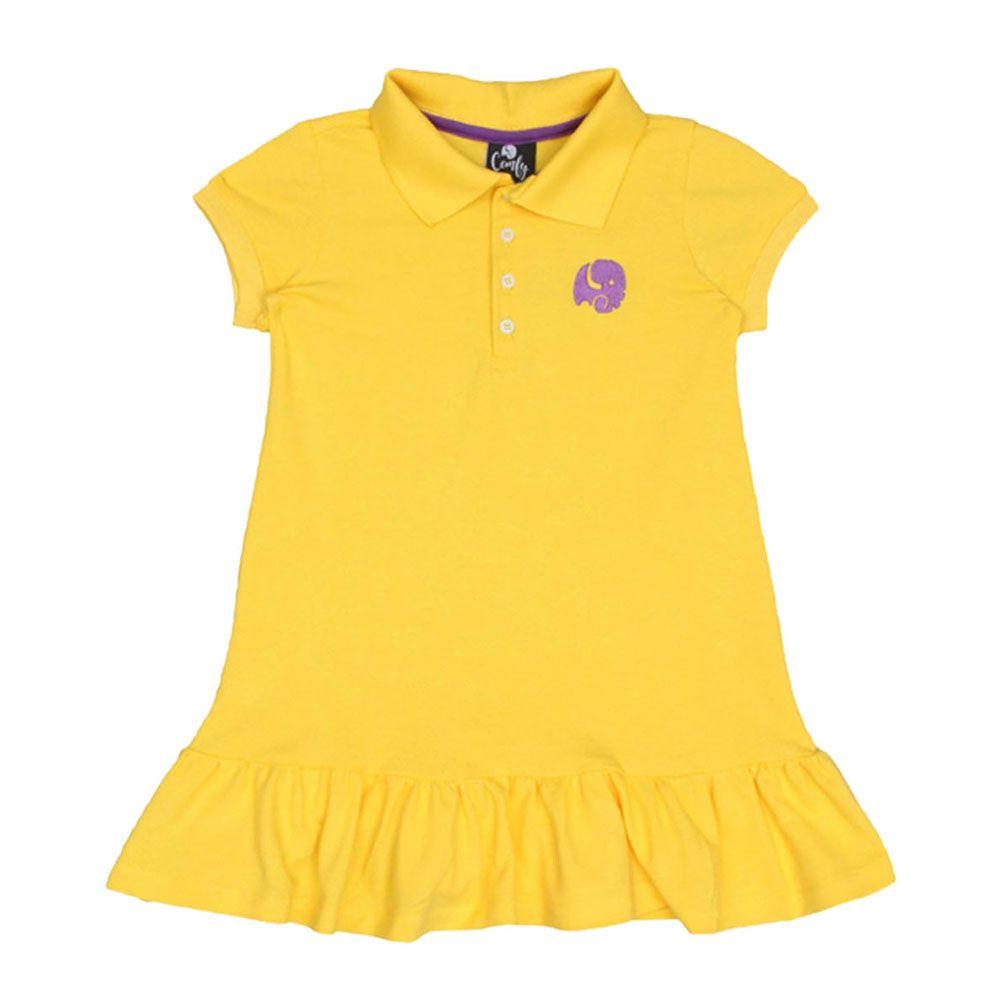 Vestido Piquet Amarelo