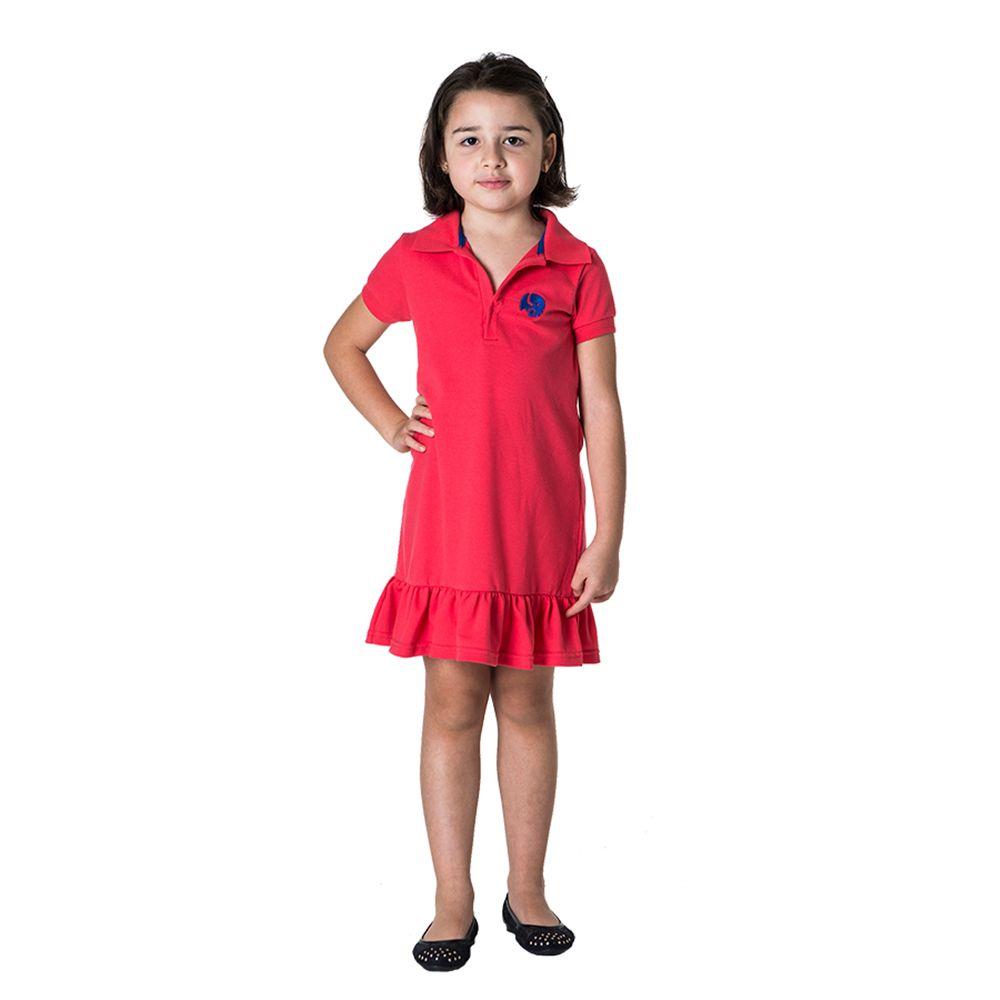 Vestido Piquet Laranja