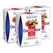 Dasalbor Sal sem sódio kit com 3 caixas  300g  Sanibras
