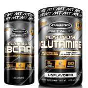 kit BCAA 811 60 cps e Glutamina 300g sem sabor Muscletech