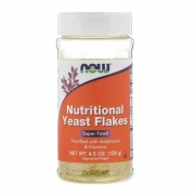 Nutritional Yeast Flakes pure 128g dosador Now foods