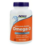 Ômega 3  100 cápsulas  - Now Foods