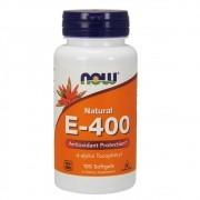 Vitamina E 400 D Alpha Tocoferol 100 cápsulas Now