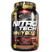 Whey Gold Nitro Tech Muscletech Sabor Chocolate