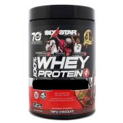 Whey Protein Six Star 907g Sabor Tripo chocolate