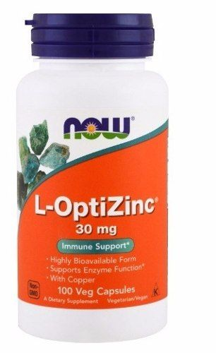 L Optizinc 30mg 100 cápsulas -  Now Foods