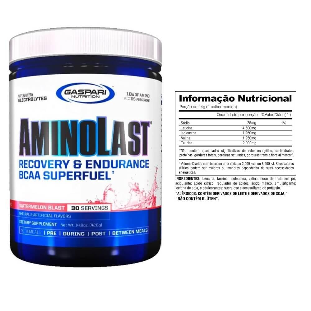 Aminolast 420g Sabor Melancia Gaspari Nutrition