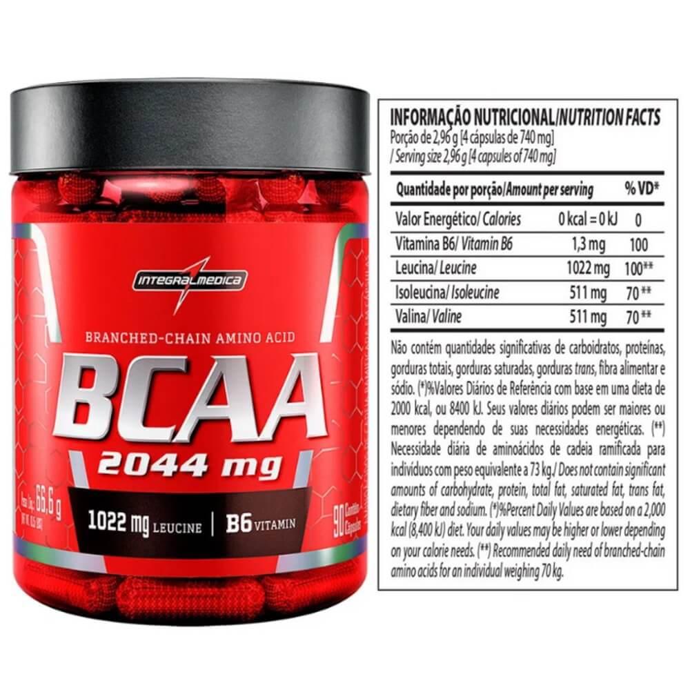 BCAA 2044mg 90 cápsulas Integralmedica