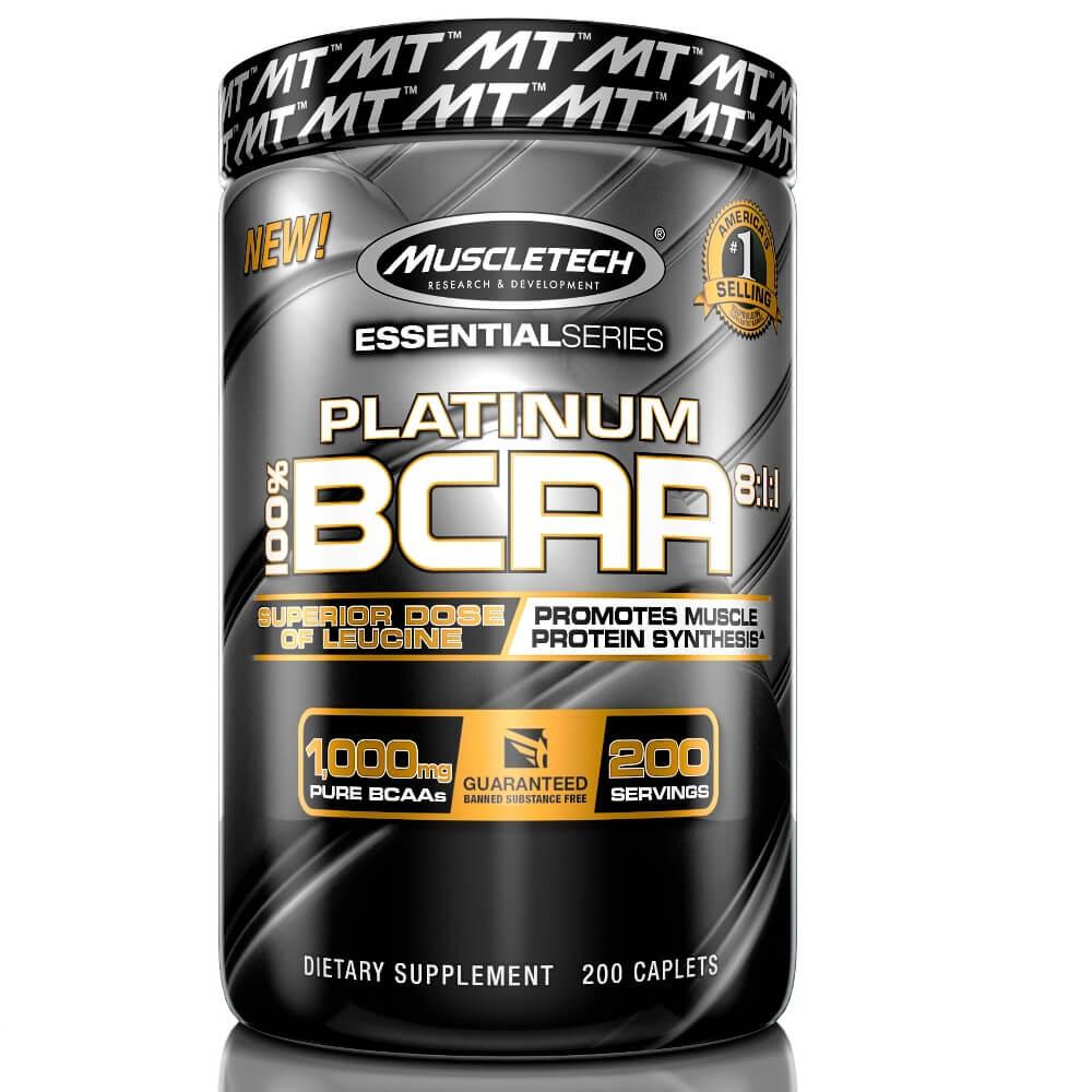 BCAA  8 1 1 Platinum Muscletech 200 cápsulas