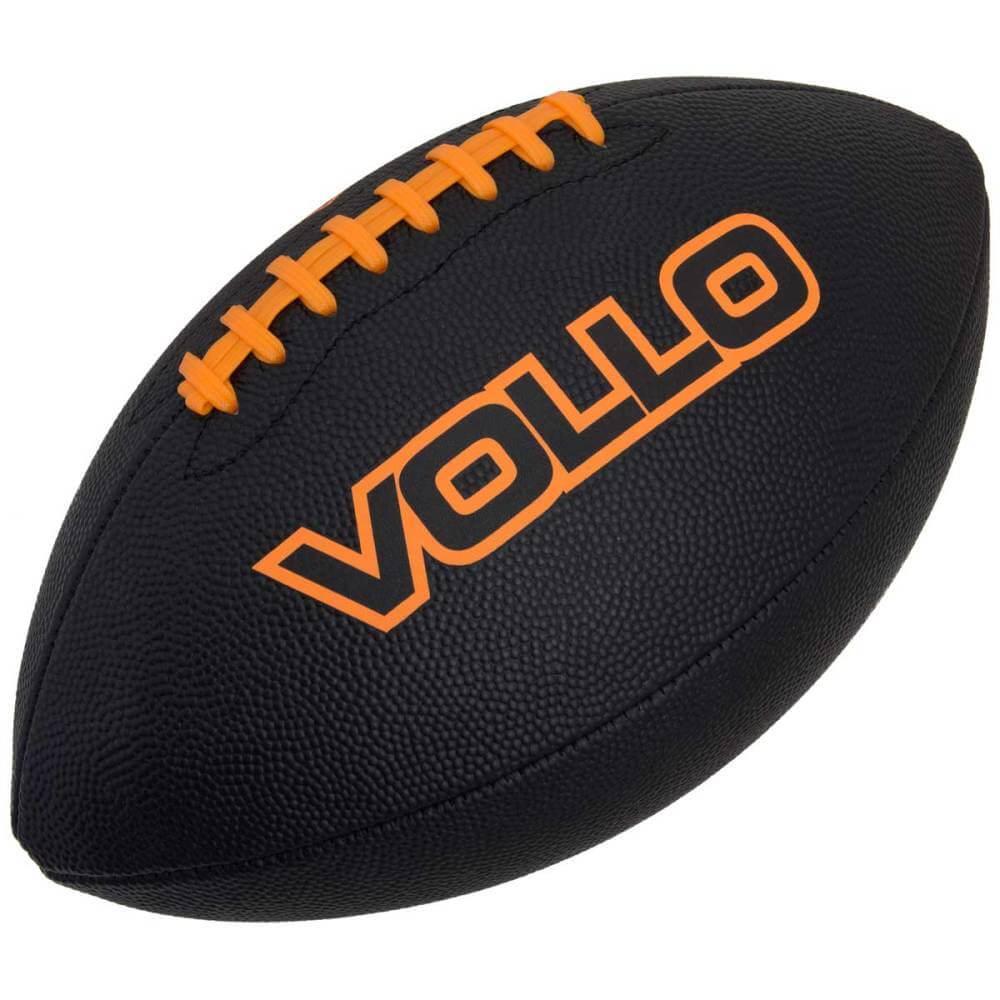 Bola De Futebol Americano Preta Profissional 9 Vollo V F002