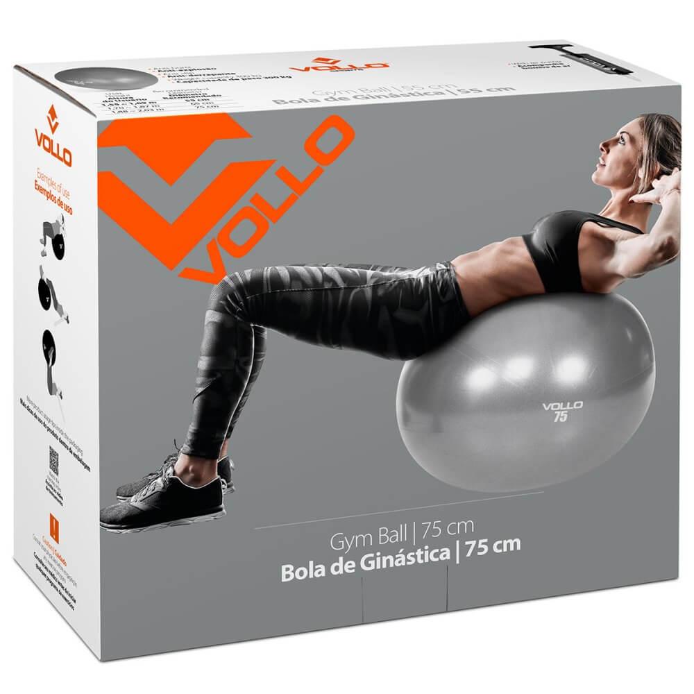 Bola Suíça De Ginástica Pilates 75cm com bomba Vollo