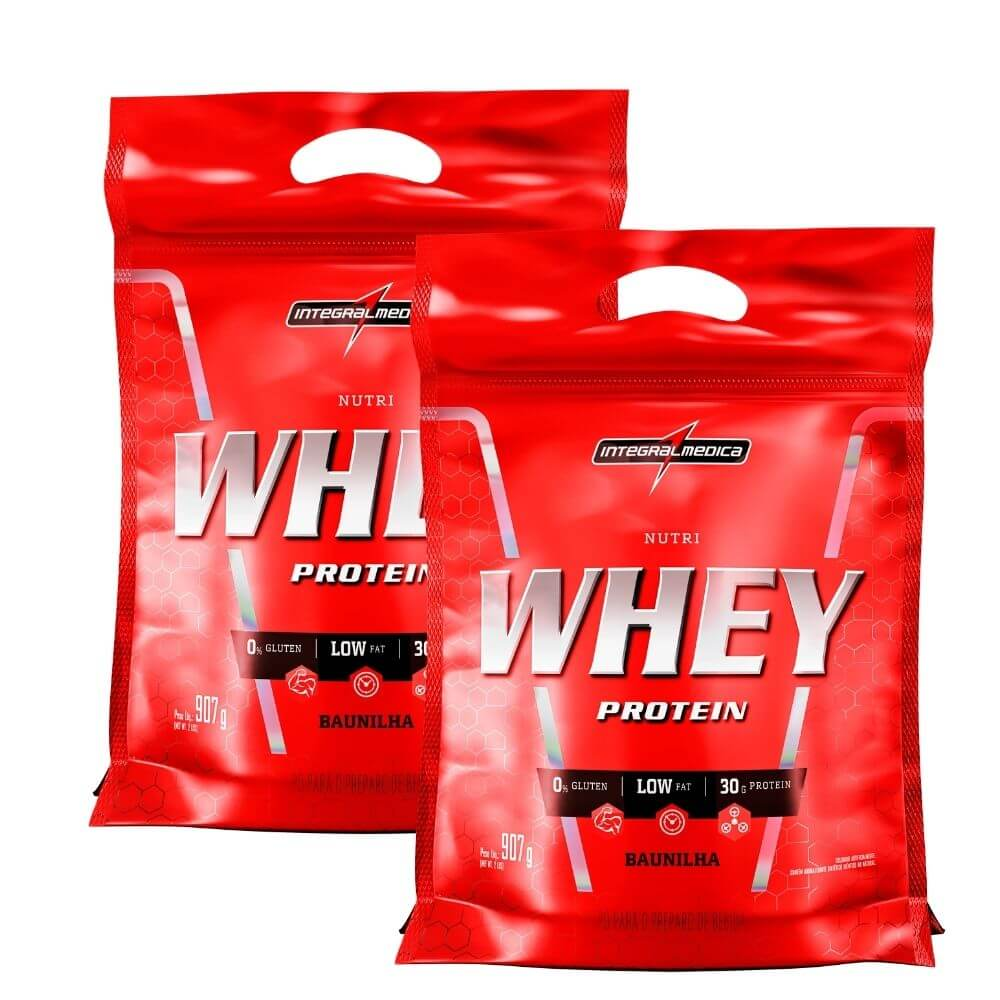 Combo 2 x Nutri Whey Baunilha Integralmedica Refil com 907 gramas cada