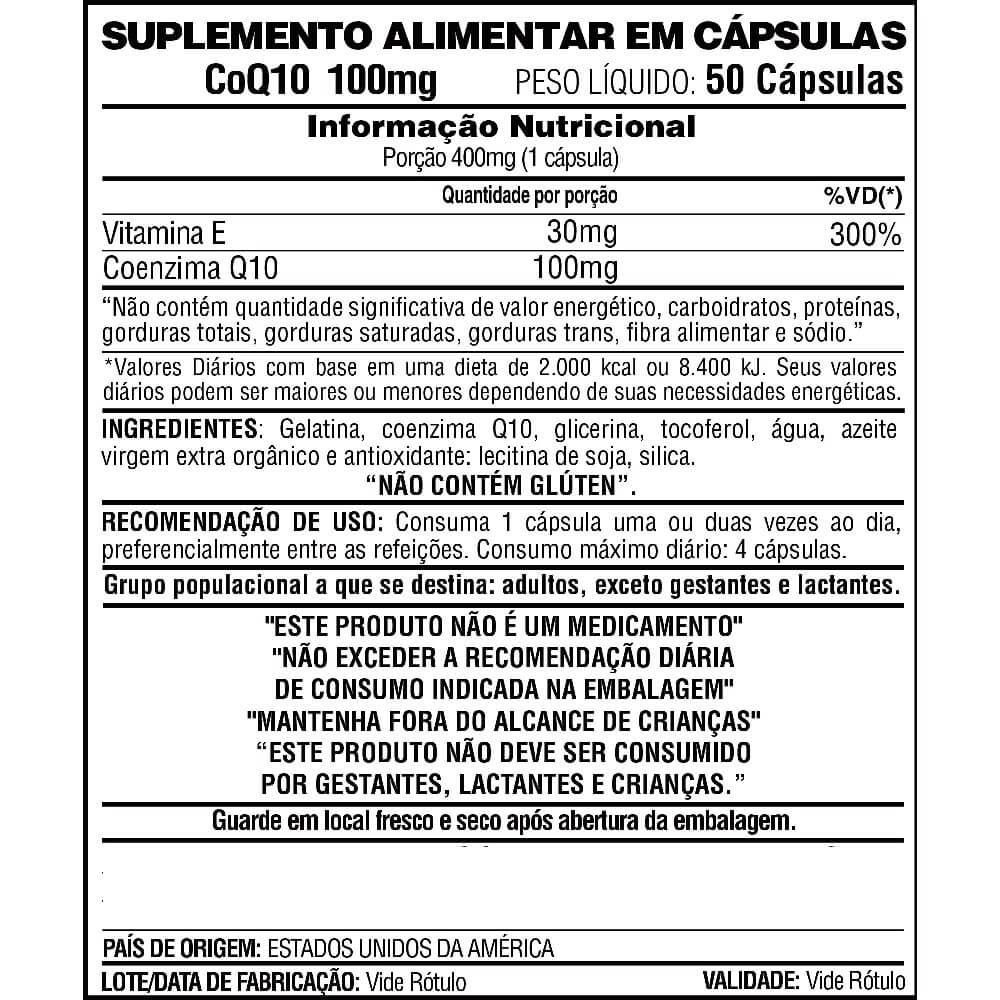 CoQ10 100mg 50 capsulas Now
