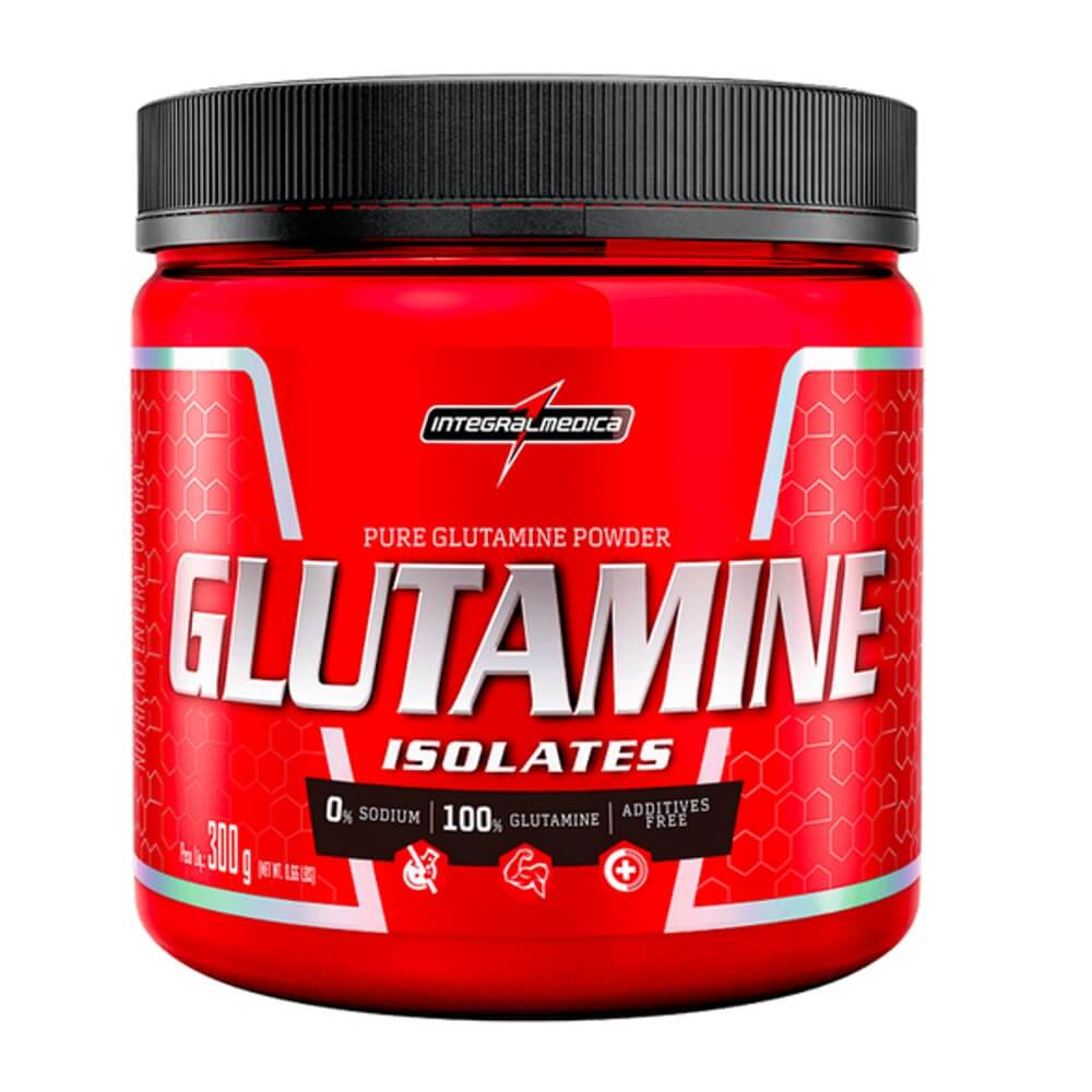 Glutamina 300 gramas natural Sem Sabor Integralmedica