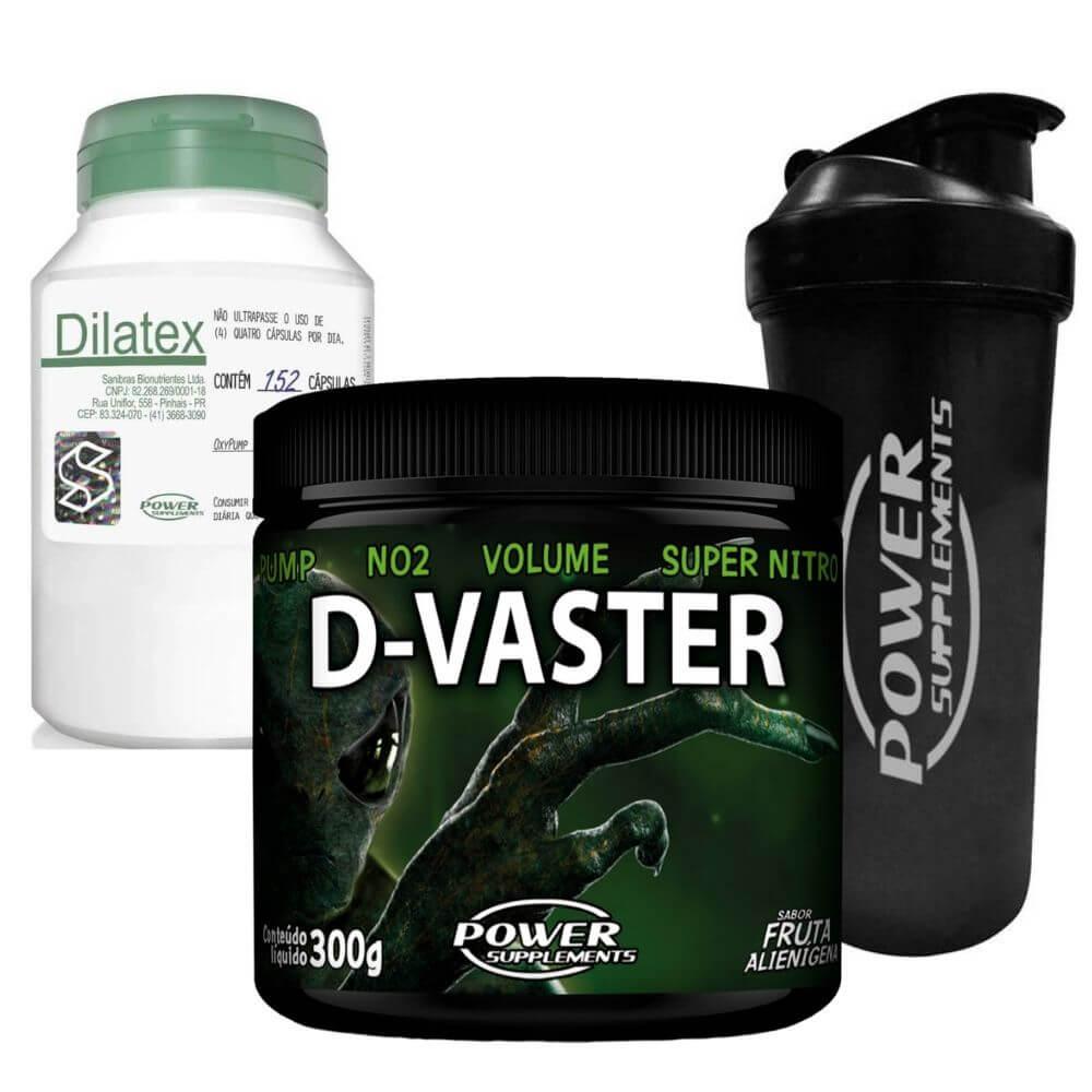 Kit Massa D Vaster, Dilatex e Coquet  Power Supplements