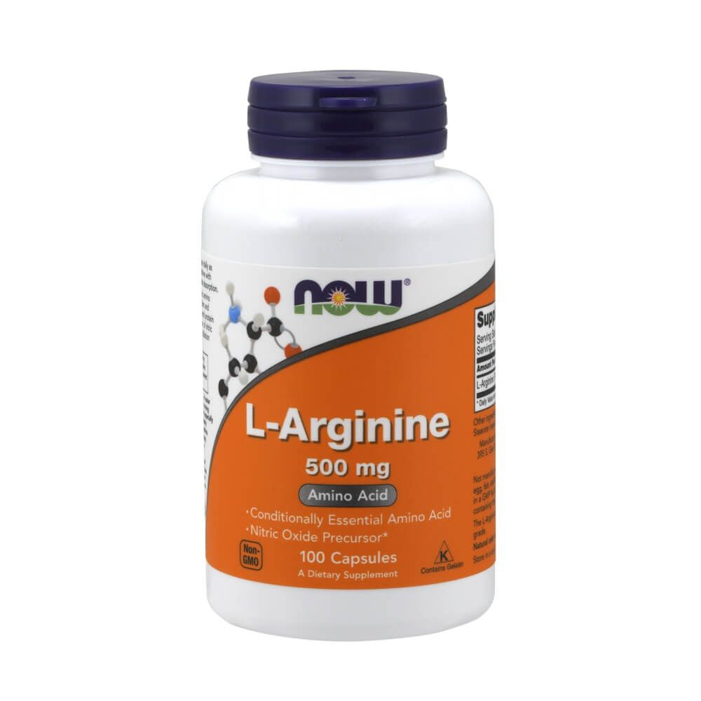 L Arginina 500mg 100 cápsulas Now Foods