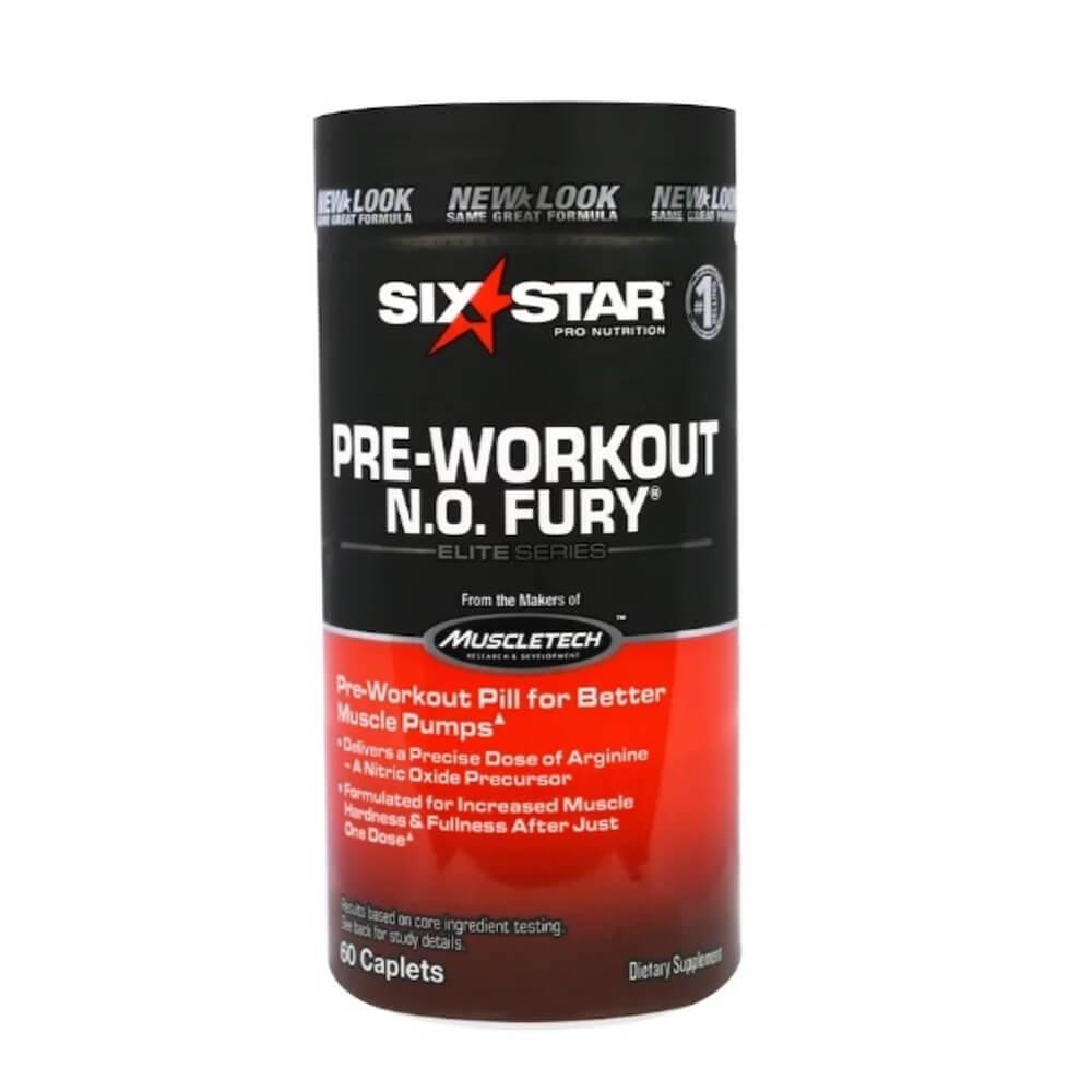 N O Fury Série Elite 60 Cápsulas  Six Star Pro Nutrição