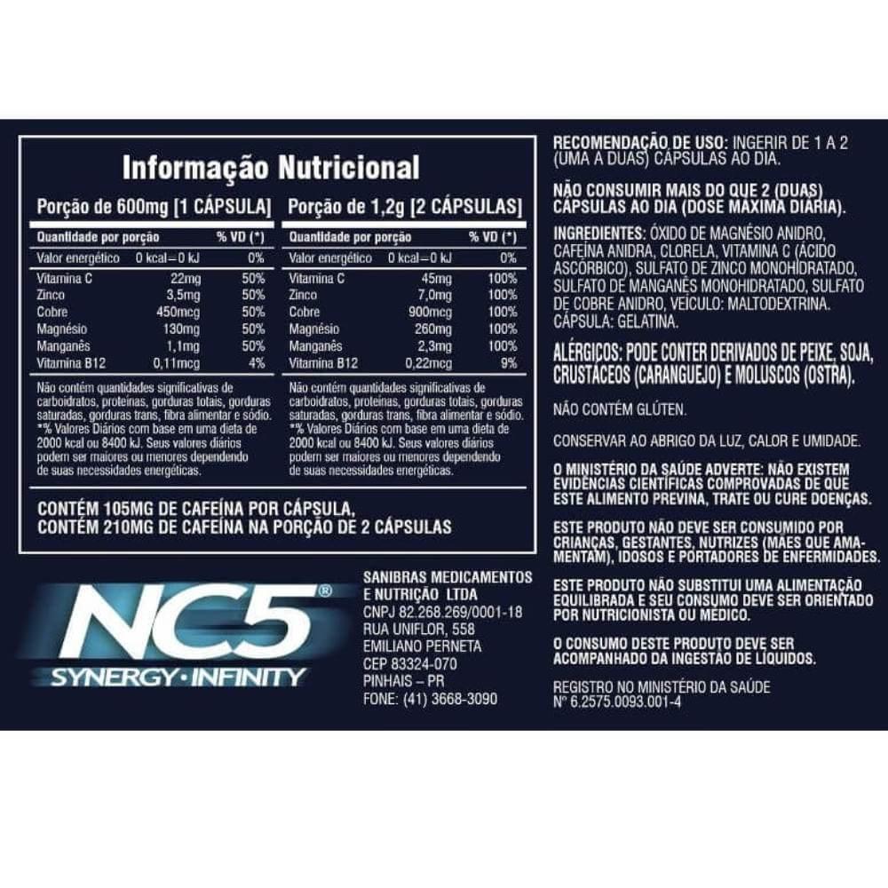 NC5  Synergy Infinity 30 capsulas  Sanibras