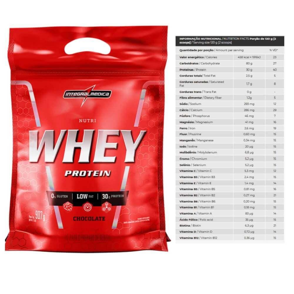 Nutri Whey Protein Refil 907 Sabor Chocolate Integralmedica
