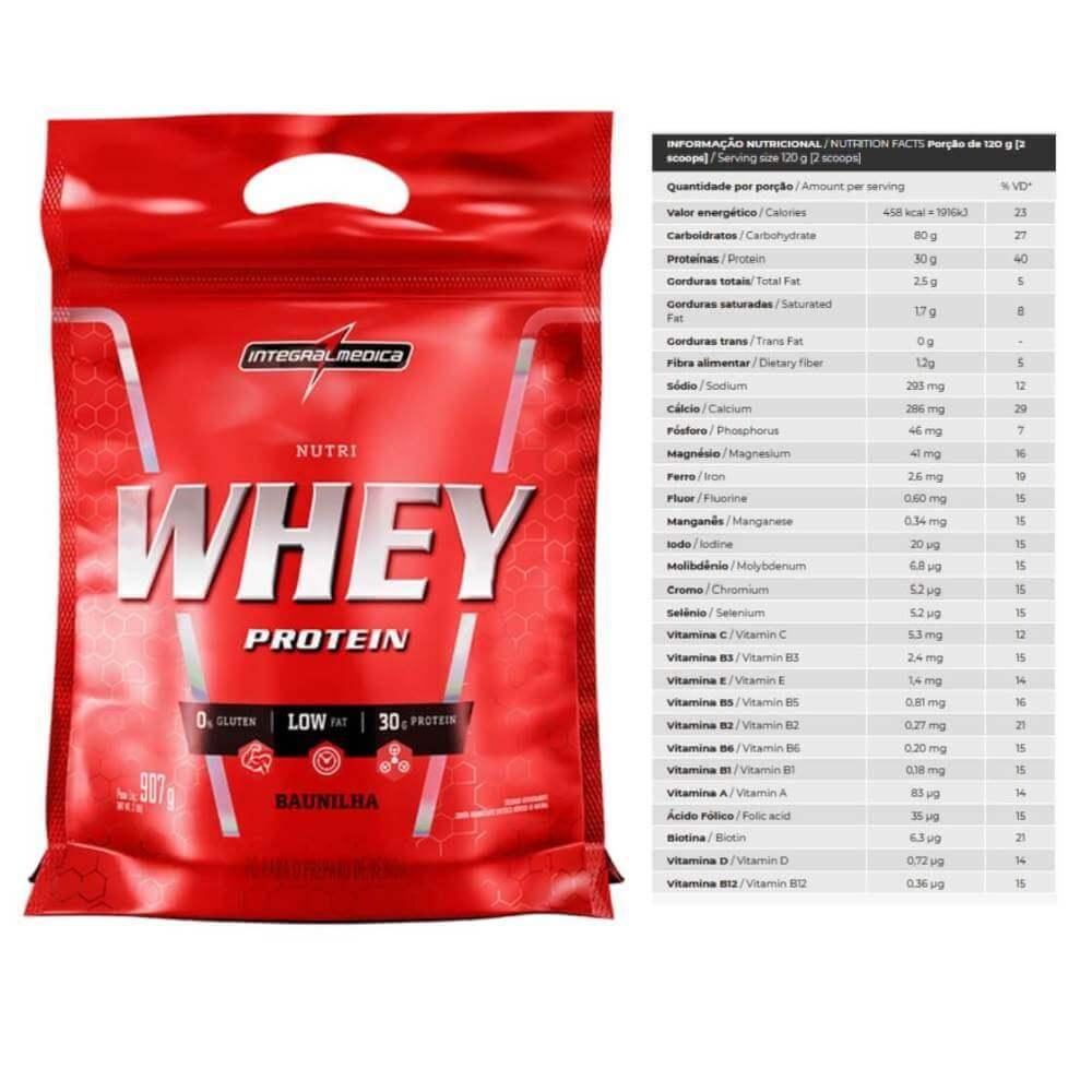 Nutri Whey Protein Sabor Baunilha Refil 907g Integralmedica