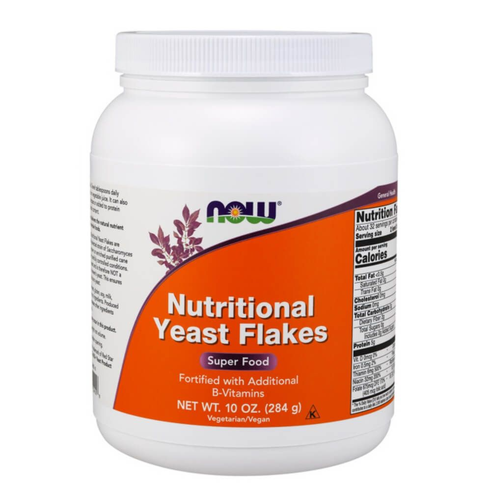 Nutritional Yeast Flakes pure 284g Now foods
