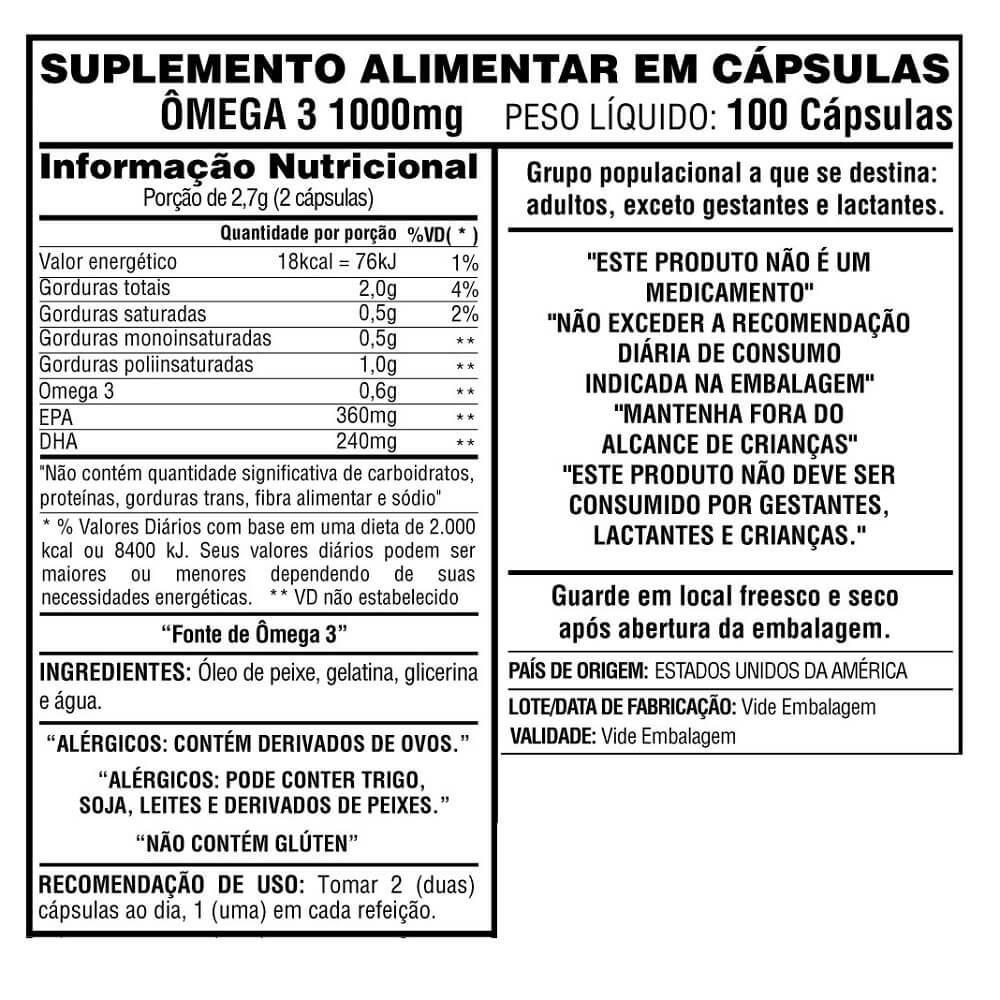 Ômega 3  100 cápsulas  - Now Foods