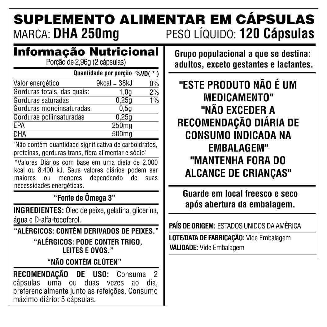 Ômega DHA 250 - EPA 125 Now Foods 120 cápsulas