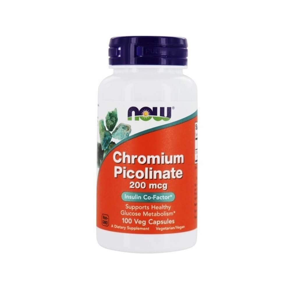 Picolinato de Cromo 200 mcg Now Foods 100 cápsulas