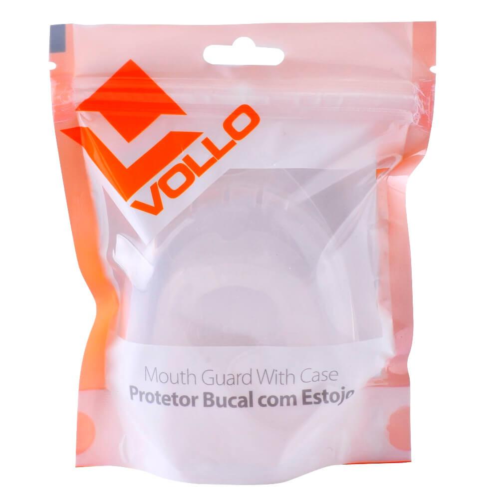 Protetor Bucal Transparente com Estojo Vollo VM502-1