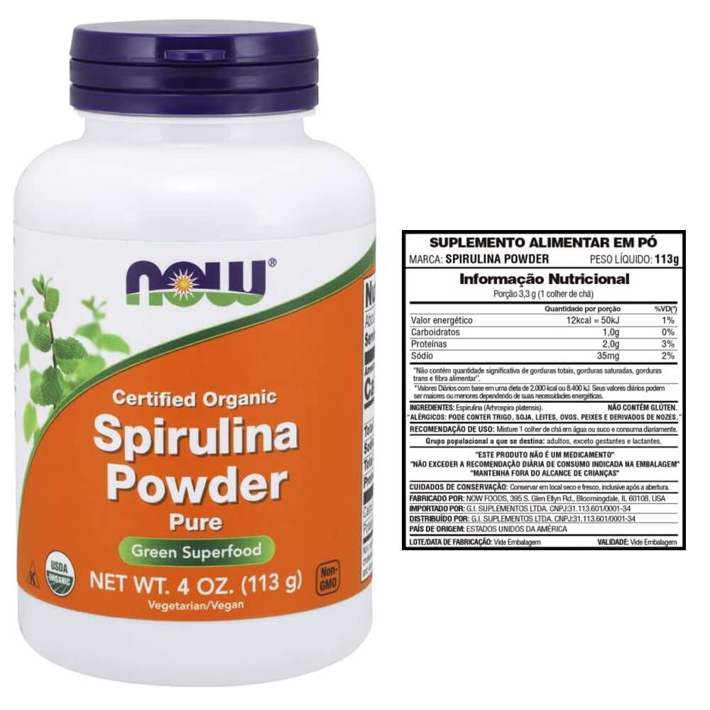 Spirulina Orgânica Powder 113g  - Now Foods