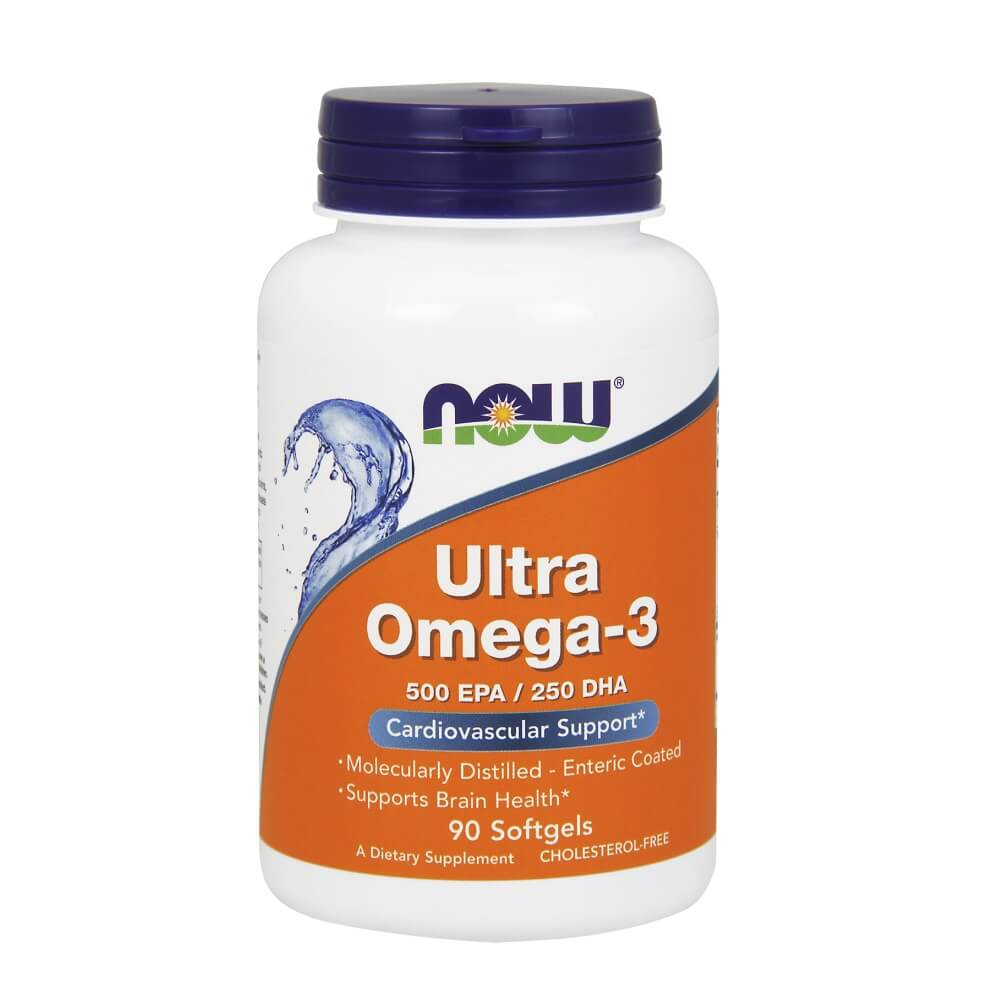 Ultra Omega 3 Now Foods  500EPA - 250DHA 90 cápsulas