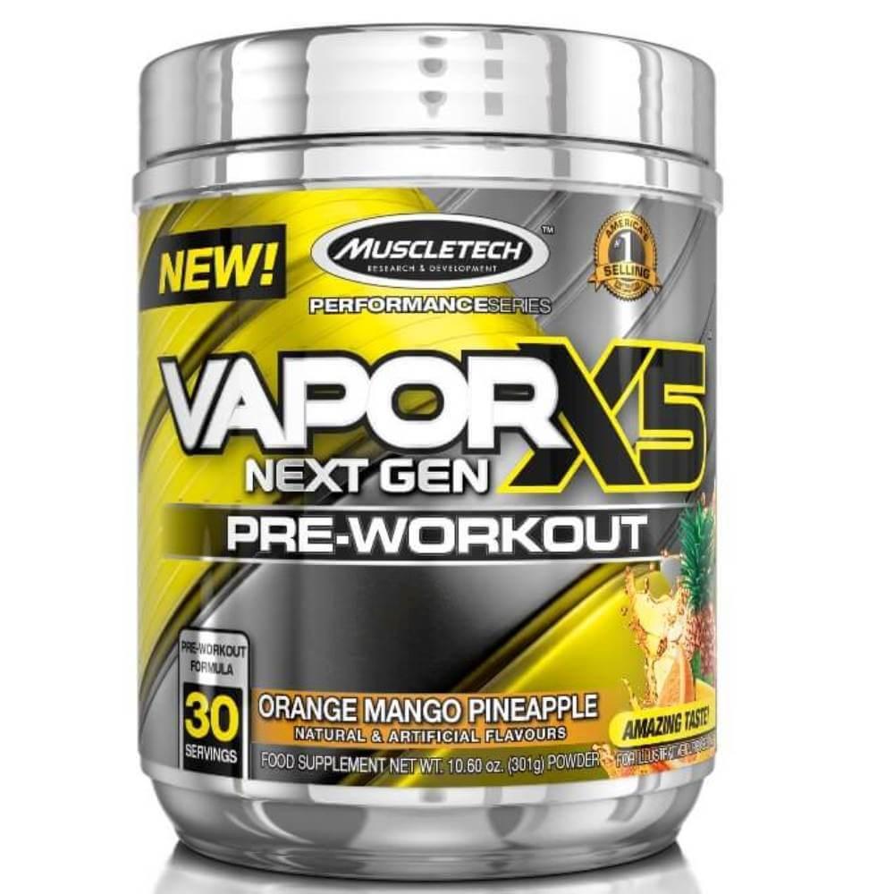 Vapor X5 30 Doses Laranja manga e abacaxi Muscletech 301g