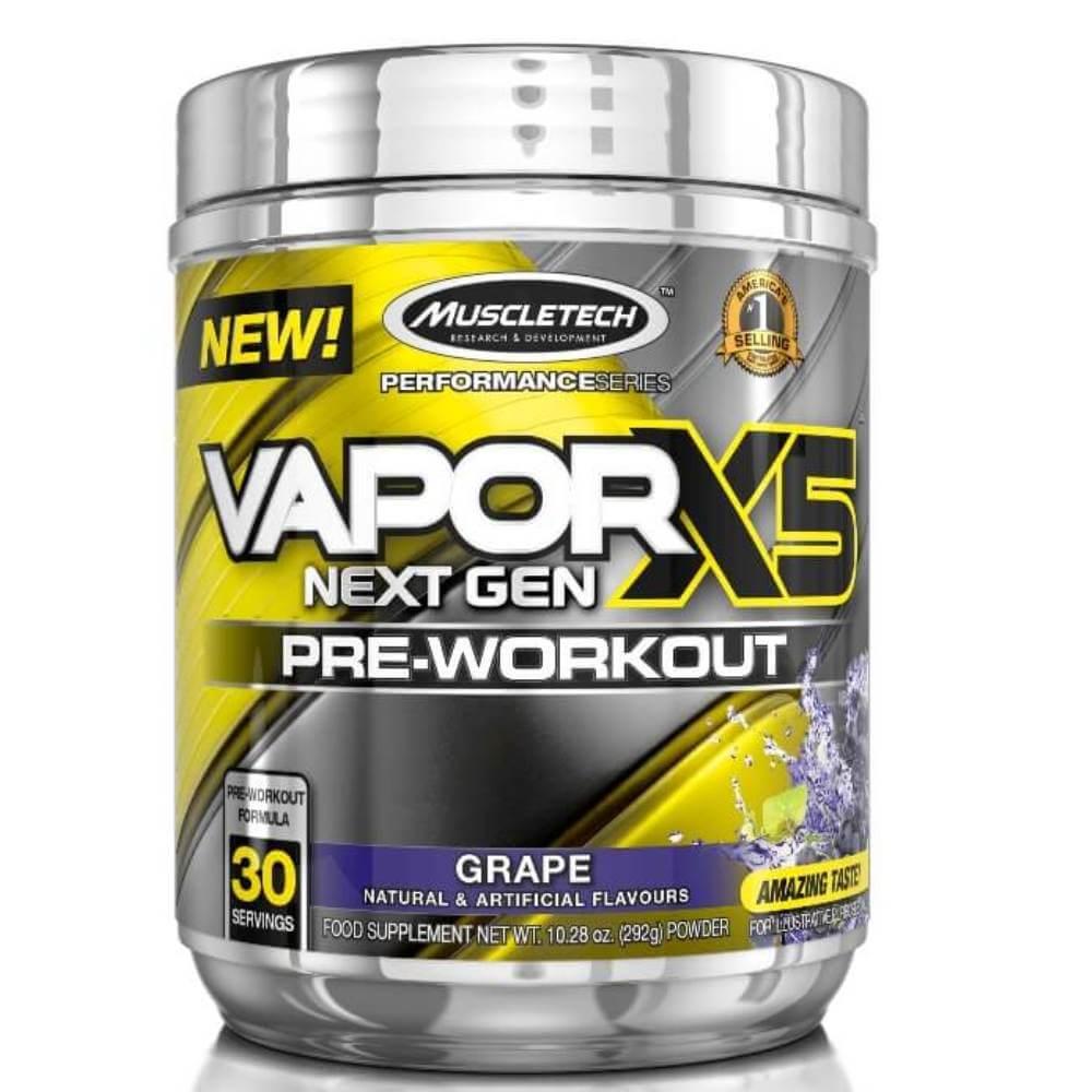 Vapor X5 Pré-Treino Muscletech 30 doses  Sabor de Uva