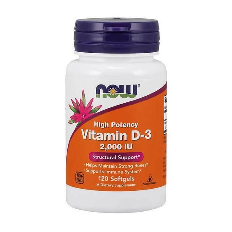 Vitamina D-3 2000 ui 120 cápsulas Now Foods