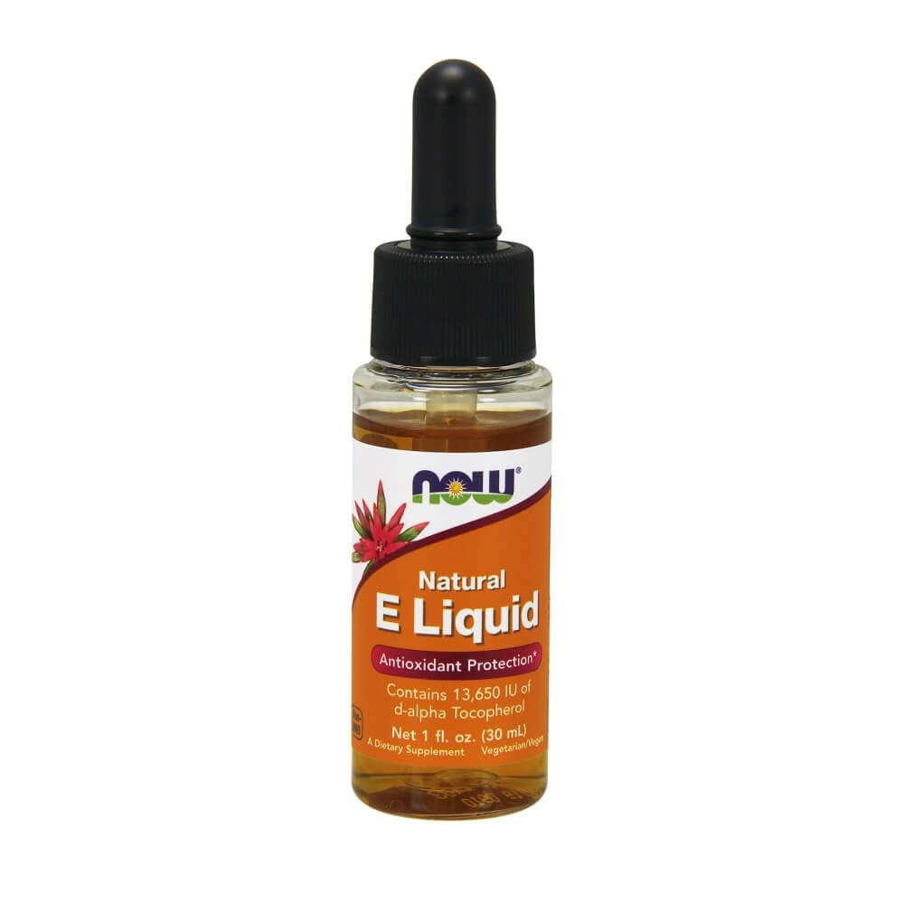 Vitamina E Liquid 30ml Now Food Sport