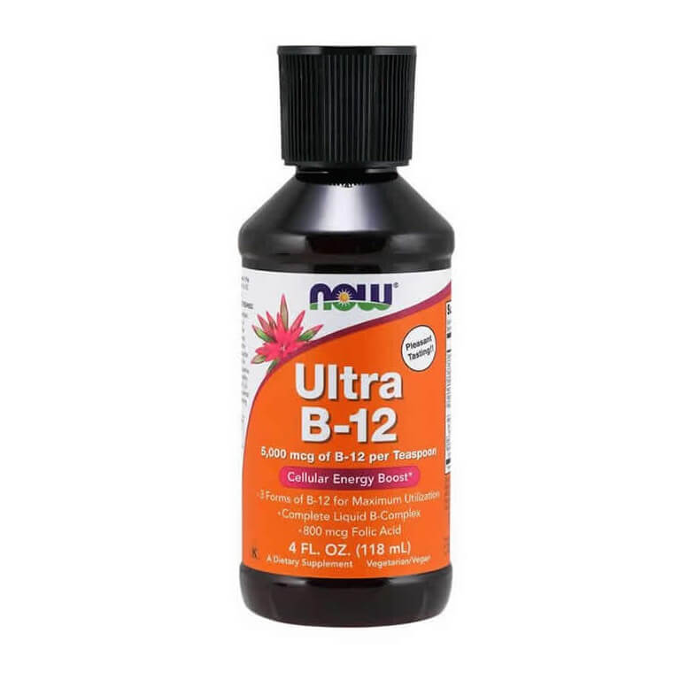 Vitamina Ultra B-12 5000mcg 118ml B12 Now Foods