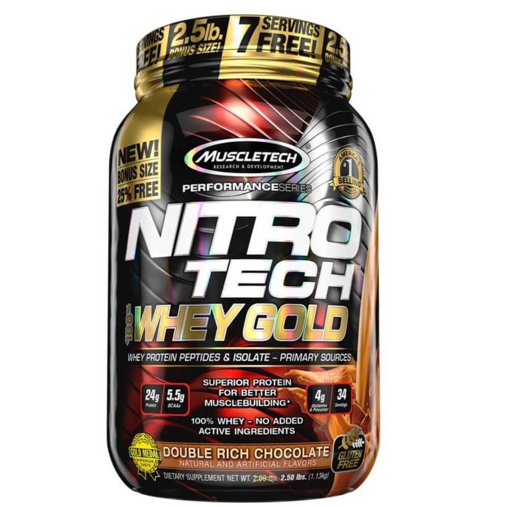 Whey Gold Nitro Tech Muscletech Sabor Chocolate