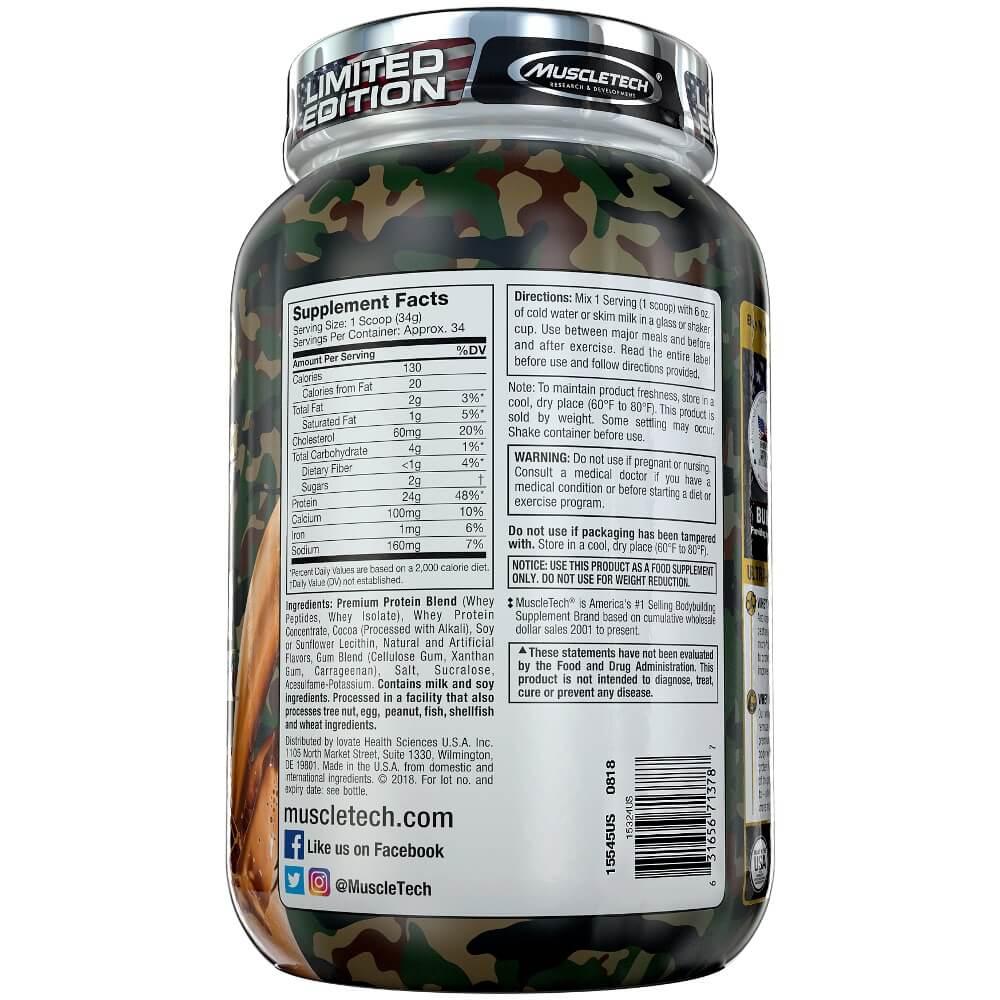 Whey Protein Premium Camuflado Gold Muscletech  Chocolate 1,15kg