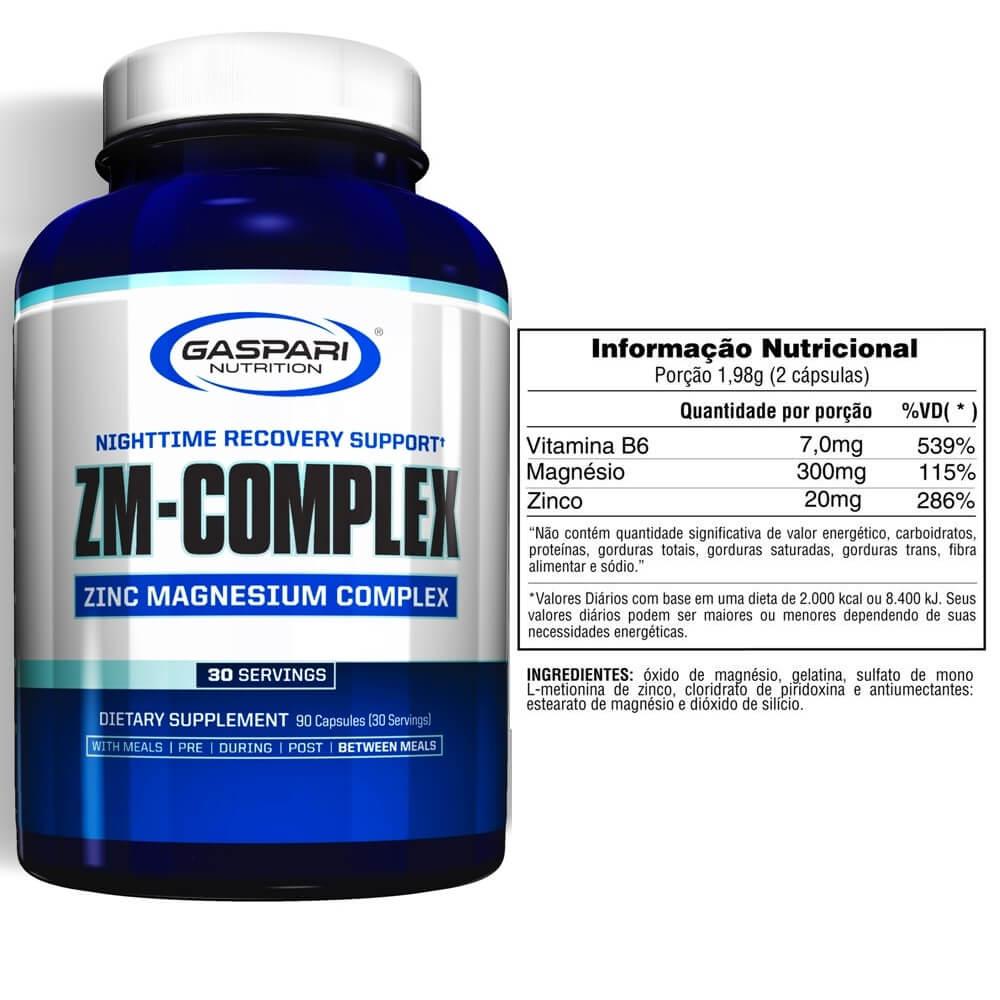 ZM Complex Gaspari Nutrition ZMA Zinco, Magnésio e B6