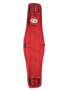 Barrigueira Laço de Neoprene INOX Vermelho
