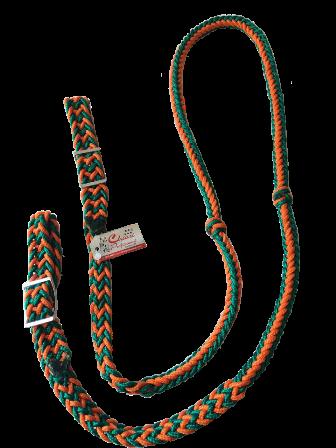 Rédea Grossa Verde Bandeira c/ Laranja