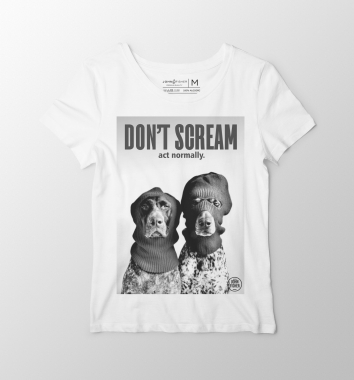 T-Shirt Feminina Don't Scream