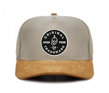 New Boné Trucker John Fisher Creme Logo