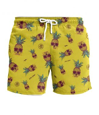 Shorts Pineapple Skull