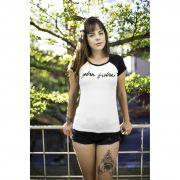 T-Shirt Feminina Manga Raglan